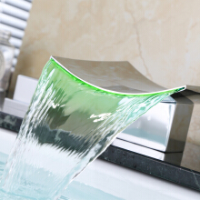 LANGFAN J4402 LED Temperature Controlled Waterfall Water Faucet