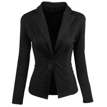 BESSKY Women Casual Slim Suit Blazer Top Ladies Jacket Coat Outwear Tops _