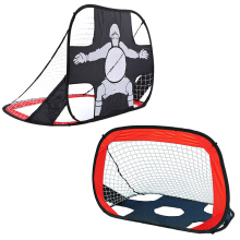 Football Goal Set Durable Foldable Portable Soccer Goal Carry Bag Red