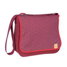 LASSIG Basic Messenger Bag Mos - Rum/Red
