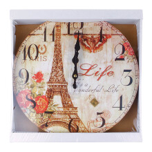 BLOOM & BLOSSOM Wall Clock - Eiffel Life