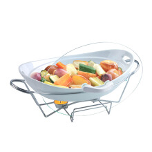 ONEMORE Oval Casserole with Warmer 32.5cm - 2156H-C207-12.5G-G