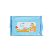 PURE BABY Cleansing Wipes Lemon Bogof 2 Pax 20's