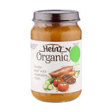 HEINZ Baby Organic Beef & Vegetable Jar - 170gr