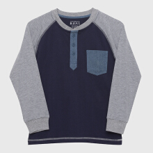 CONTEMPO BOY L/S R Neck - Navy