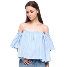 LOOKBOUTIQUESTORE Will Sabrina Top - Baby Blue