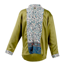 LITTLE SUPERSTAR Koko Shirt 2 Tone LS Green Batik Cream A038B