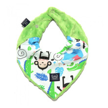 LA MILLOU Minky Warm Neck - Happy Monkey Green WN081G
