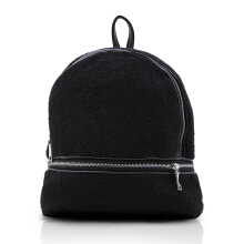 NEW COLLECTION Minimalistic modern backpack - Black