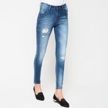 PEOPLE'S DENIM Ladies Narnia Ripped - Blue