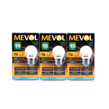 MEVAL Lampu LED  Bulb 9W - Cool Day Light / Putih - 3 pcs Value Pack