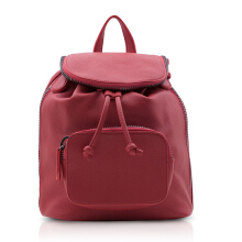 NEW COLLECTION Backpack with black metallic zipper detail - Red