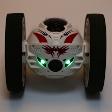 PEG SJ88 2.4G Remote Control Jumping Car Bounce RC Toy-White