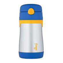 THERMOS FOOGO Vacuum Insulated Stainless Steel Straw Bottle - Blue 0.3 L (BS535 BL)