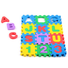 BESSKY Mini 36pcs EVA Puzzle Kid Toy Alphabet Letters Numeral Foam Mat Education Toys - Multicolor