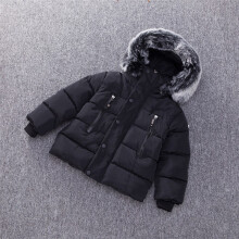 BESSKY Baby Girl Boy Winter Cotton Hooded Coat Jacket Thick Warm Zipper Outwear Clothes_