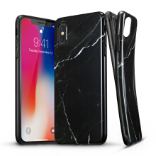 iPhone X Case, iPhone X Marble Case, ESR Slim Soft Flexible TPU Marble Pattern Cover for Apple iPhone X(Black Sierra)