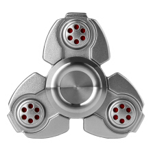 Zinc Alloy Hand Spinner Clover Fingertip Autism Recovery Decompression Toy-Silver