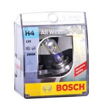 BOSCH Bulb Bohlam All Weather Plus Set H4 12V/55W P43T 2900K