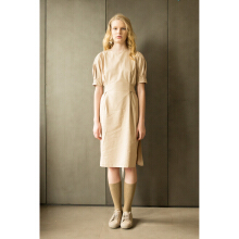 SHOP AT VELVET Revel In Nostalgia Corner Dress - Beige [All Size]