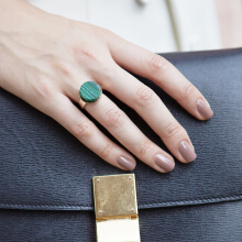Marble Ring-Forest Green Ring Green