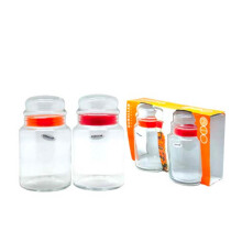 GURALLAR Sera Jar Window Pack Of 2 890ml