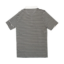B.O OUTSIDERS Stripe Ss Rugby Polo - Black