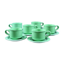 BRILIANT Cup&Saucer 12pcs - Hijau Toska/GM003