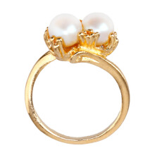 1901 JEWELRY Cincin Two Pearl (Lapis Emas 24K)