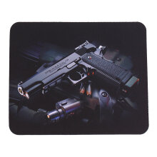 Gun Picture Anti-Slip Laptop PC Mice Pad Mat Mousepad For Optical Laser Mouse