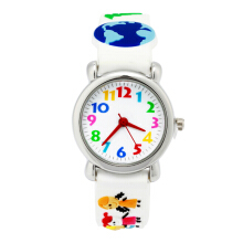 Keymao Watch Family Waterproof 3D Cute Cartoon Silicone Wristwatches Gift for Little Girls Boy Kids Children White