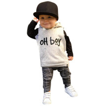 BESSKY Toddler Infant Baby Girl Boy Clothes Set Fashion Hooded Tops+Pants Outfits_