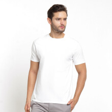 STYLEBASICS Men's Round Neck Basic T-shirt - White