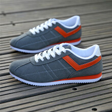 BESSKY Men's Casual Shoes Fashion Low Ankle Lace-up Flat Heel Sport Shoes_
