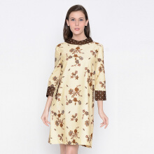 A&D Ladies Dress Batik Ms 1013 - Cream