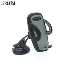 JEREFISH 2in1 Universal Car Phone Mount for Windshield Dashboard or Air Vent with Metal Vent Mount and Strong Suction Cup Grey