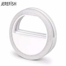 JEREFISH Selfie LED Light Up Flash Light Photography Luminous Ring Light 36pcs LED 3 Brightness Levels Clip on All Mobile Phone