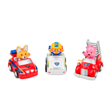 PORORO Assorted Small Vehicles Police Car, Fire Truck