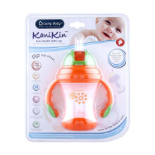 LUCKY BABY Kanikin Twin Handle Strawcup - Orange