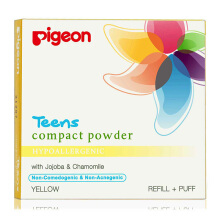 PIGEON TEENS Refill Compact Powder Hypoallergenic Yellow 20g