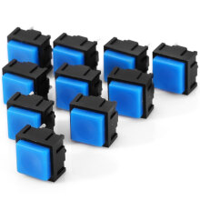 10Pcs Practical AC 12V 50mA 2Pin Push Button Switch Set for DIY Project