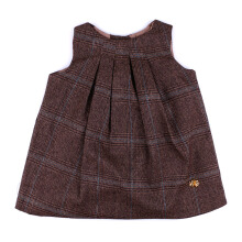 KIDDIEWEAR Dress Plaid Brown with Brooch 1RN7398