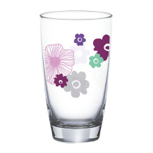 OCEAN Flora Refreshing Drink Glass 2 pcs - Indigo - 465 ml