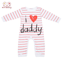 Xirubaby I Love Mummy Daddy Print Baby Romper Kid Jumpsuit