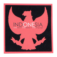 Tactical Series Velcro Patch 9 x 9 cm - Indonesia Garuda - Black Red