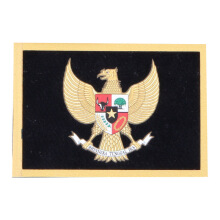 Tactical Series Velcro Patch 9 x 6.5 cm - Garuda Pancasila - Black Yellow