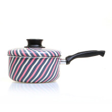 TRAMONTINA Sauce Pan + Tutup Lovely Kitchen Pink Stripe - 18cm/2Lt