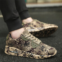 BESSKY Men's Fashion Camouflage Pattern Walking Shoes Flat Heel Sport Shoes_