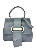 Catriona By Cocolyn Buckle sling bag - GREY