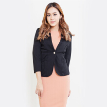Blanik Chesna Open Front Blazer Outerwear 86043 - Black [One Size]